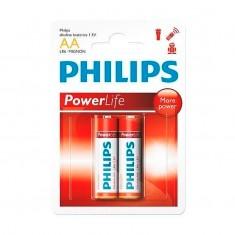 Pilha Alcalina Philips AA PowerLife (2 unidades)