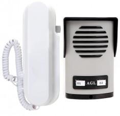 Porteiro Eletr�nico Coletivo de 2 Pontos AGL Com 1 Monofone - Condom�nios Residenciais ou Ed�ficios