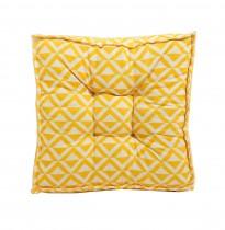 Futon Amarelo Geométrico 40x40x8 cm
