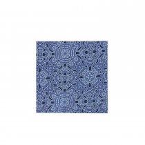 Conjunto 4pçs Guardanapo Tecido Azul 16u