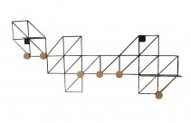 Cabideiro Ferro 6 Ganchos 8x88x10cm
