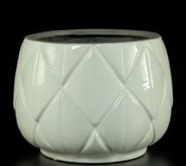Cachepot Cerâmica Branco  20cm