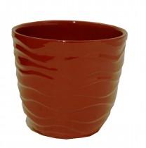 Cachepot P Cerâmica 10 cm Vermelho
