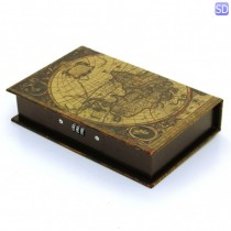 Caixa Livro World Mapa