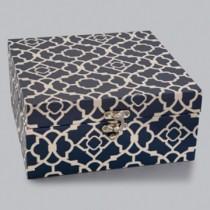 Caixa Quadrada Azul 19x19cm
