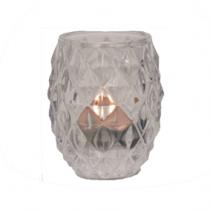 Castiçal Vidro P Transparente
