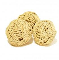 Bola 1un decorativa corda 10 cm