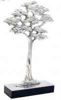 Escultura Arvore Alumínio 40x24 cm
