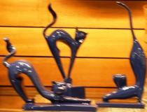 Escultura Gato Azul 25 cm