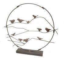 Escultura Pássaros Ferro 54cm