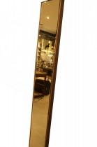 Espelho Bronze Moldura Madeira 188x27cm