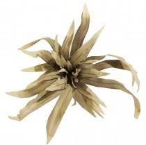 Flor de Tecido cinza