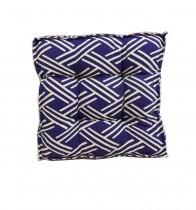 Futon Azul Geom�trico 40x40x8 cm