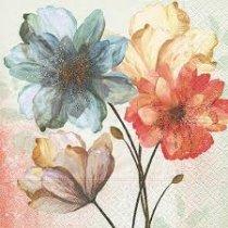 Guardanapo Papel Florido Azul 20un
