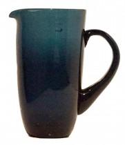 Jarra Vidro Azul 20x14cm