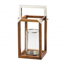 Lanterna Madeira 25x25cm
