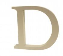 Letra D Cinza 20 cm
