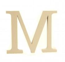 Letra M Cinza 20 cm