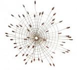 Mandala Ferro Folhas 90 cm