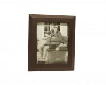 Porta Retrato Couro Marrom 20x25cm