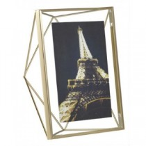 Porta Retrato Pirâmide Dourado 13x18cm