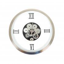 Relógio Mecânico Branco 35cm