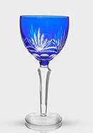 Taça Agua Lapidada Azul 20cm