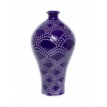 Vaso Cerâmica Azul Escuro 40cm