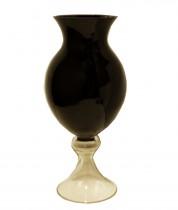Vaso de Vidro Preto 50 cm