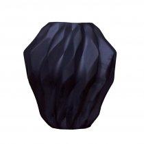 Vaso Geométrico Preto Fosco 38cm