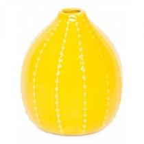Vaso Redondo Amarelo 13cm