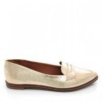 Imagem -  Sapato feminino Mocassim Bico Fino Mariotta 16190-71 Metalizado - 003319
