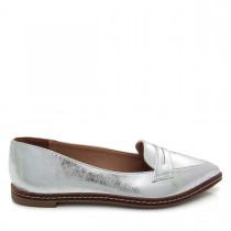 Imagem -  Sapato feminino Mocassim Bico Fino Mariotta 16190-71 Metalizado - 003251