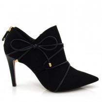 Imagem - Bota Feminina Ankle Boot Cecconello 939008 Salto fino Bico Fino - 002866