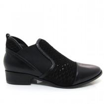 Imagem - Bota Feminina Cano Curto Of Shoes 7147 Salto baixo Couro - 003350