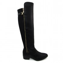 Bota Over the Knee Feminina Via Marte 6302 salto baixo