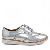 Sapato Feminino Oxford Vizzano 1231101 Metalizado