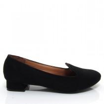 Sapato Feminino Scarpin Slipper Vizzano Salto quadrado Camurça