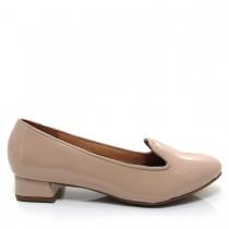 Sapato Feminino Scarpin Slipper Vizzano Salto quadrado Verniz
