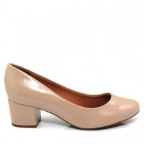 Sapato Feminino Scarpin Vizzano 1223100 Verniz Salto Baixo
