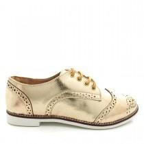 Imagem - Sapato Oxford Feminino Casual Mariotta 17170-161 Metalizado - 003424