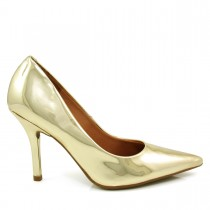 Sapato Scarpin Feminino Vizzano Bico fino Metalizado 1184113