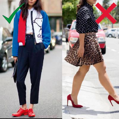 A melhor forma de combinar outras peças coloridas com sapatos vermelhos é  escolher peças com cores próximas ao vermelho. Os melhores tons para essa  ... f97c051bbe1