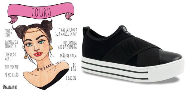 9db596346 Por isso, as taurinas costumam utilizar tênis casual em cores neutras, como  o preto, ...