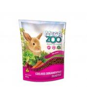 Alimento completo para coelhos ornamentais Filhotes Mega Zoo 500g