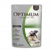Alimento Úmido Optimum Sachê Cães Adultos Raças Pequenas/ Minis Frango 100g