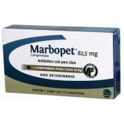 Antibiótico Marbopet Para Cães 82,5mg 10 Comprimidos