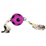 Brinquedo Bola Futebol Vinil 8cm com Corda
