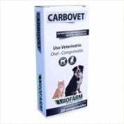 Carbovet 20 Comprimidos Para Cães e Gatos