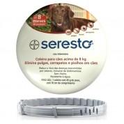 Coleira Antipulgas e Carrapatos Seresto Cães Acima de 8kg